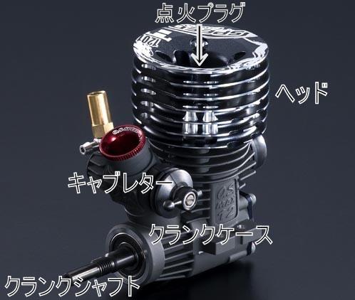 ラジコンカーのエンジン