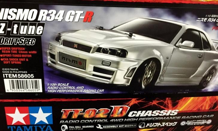 タミヤ「ニスモ R34 GT-R Z-tune ドリフトスペック」をレビュー