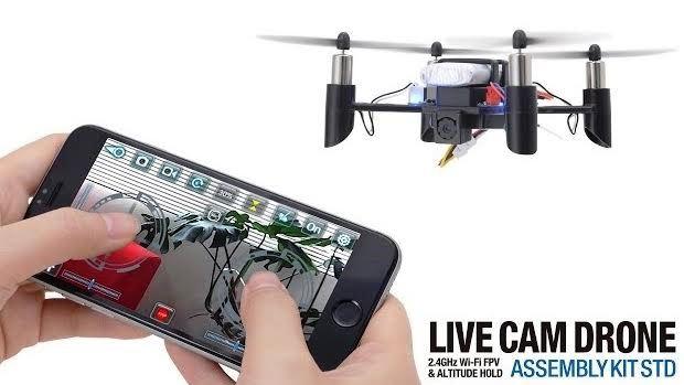 自分で組み立ててスマホで飛ばすドローンキットLIVE CAM DRONE